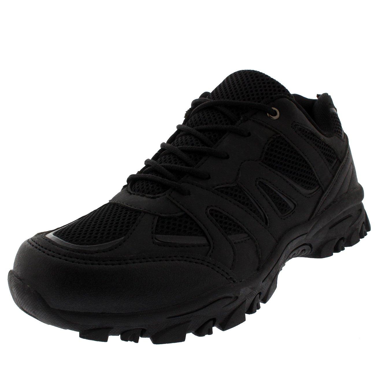Get Fit Mens Hiking Boot Walking Lightweight Fitness Shock Absorbing Sneakers - Black - US11/EU44 - BS0174