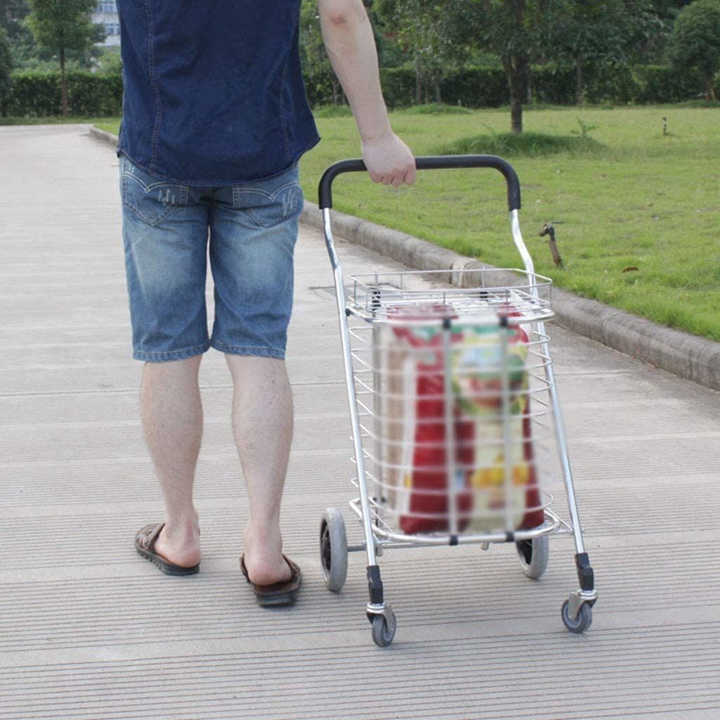 DNSJB Rolling Grocery Cart Wearable Climbing Stairs and Shopping Cart Trolleys Large Capacity Folding Portable Shopping Cart Grocery Wagon