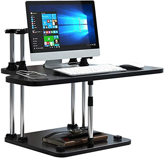 XUE-BAI Sit/Stand Escritorio para PC Workstation Rise Down/up Mesa ...