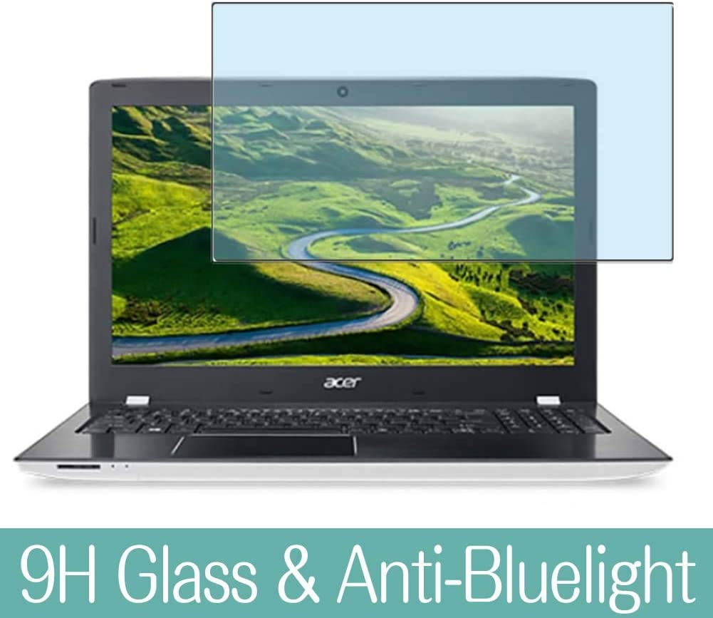 """Synvy Anti Blue Light Tempered Glass Screen Protector for Acer Aspire E Series E5-575-H58G / W 15.6"""" Visible Area 9H Protective Screen Film Protectors"""
