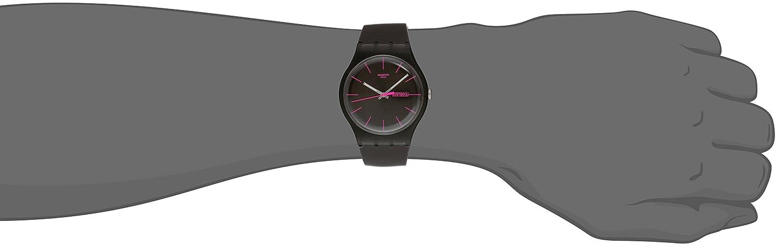 Swatch SUOC700 - Reloj de caballero de cuarzo, correa de caucho color marrón: Swatch: Amazon.es: Relojes