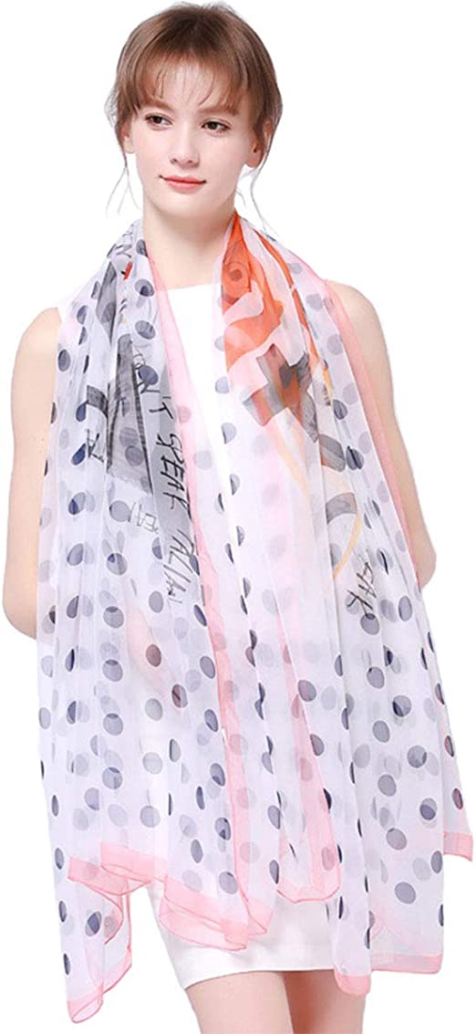 Fashion Cozy Long Scarf Shawl Wrap Chiffon Polka Dot