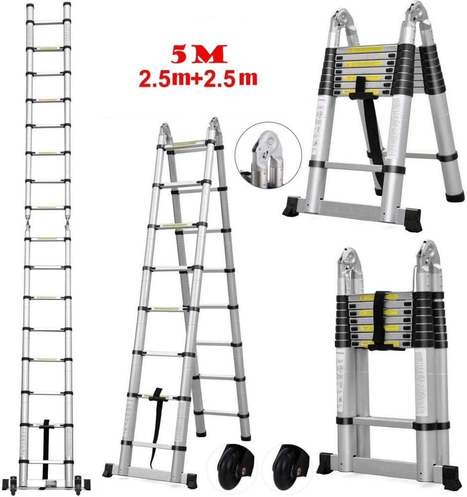 LADDER una Escalera Escalera de Dos Heces Taburete de Bar Escalera Pequeña Mini Tramo Aluminio Unilateral Escalera Escaleras de Incendios: Amazon.es: Bricolaje y herramientas