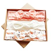 DANMY Baby Girl's Kink Soft Headband Cotton Elastic Hair Band Big Spiral Knot Soft Turban Bow (Gift boxes1)