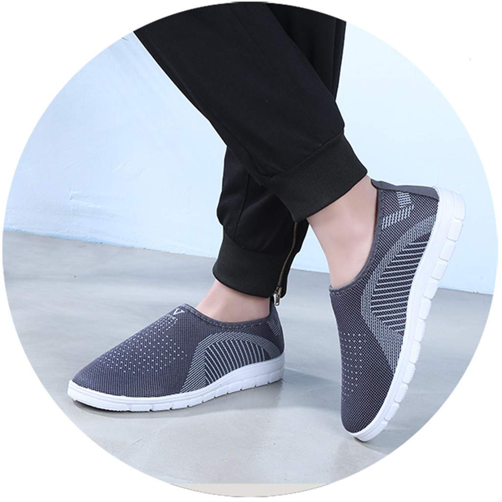 kaifongfu Men's Footwears Shoes Slip-On Sport Shoes Sneaker Comfortable Shoes(Gray,39) by kaifongfu (Image #9)