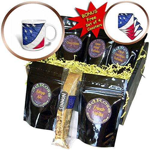 3dRose Danita Delimont - Flags - Stars and Stripes of the American flag, Las Vegas, Nevada. - Coffee Gift Baskets - Coffee Gift Basket (cgb_259698_1)