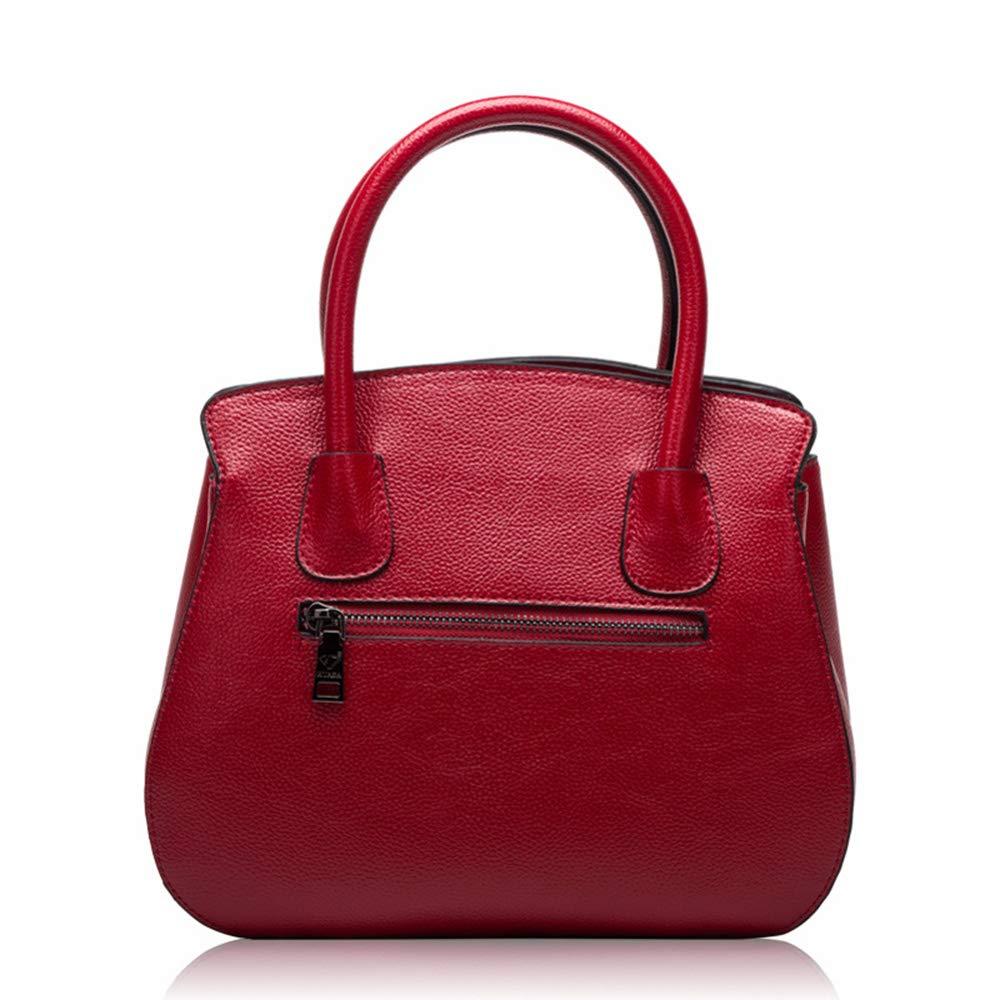 XFRJYKJ-Womens Handbag Fashion Pebbled Leather Platinum Tote