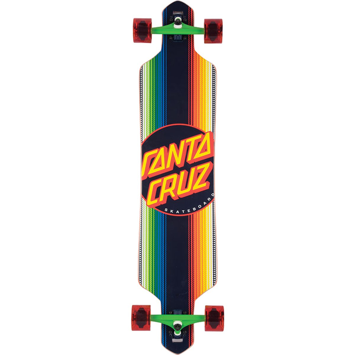 Santa Cruz Skateboards Jorongo Dot Drop Through Longboard Complete Skateboard - 9.2'' x 41'' by Santa Cruz