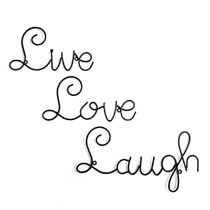 Live Love Laugh Set 3 Wall Mount Metal Wall Word Sculpture, Wall Decor By  Super