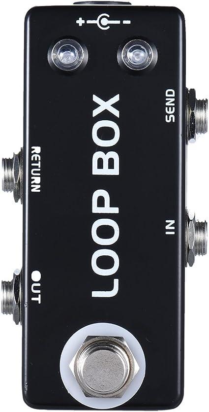 ammoon Mini Guitarra Pedal de Efecto Loop Box Caja de Bucle ...