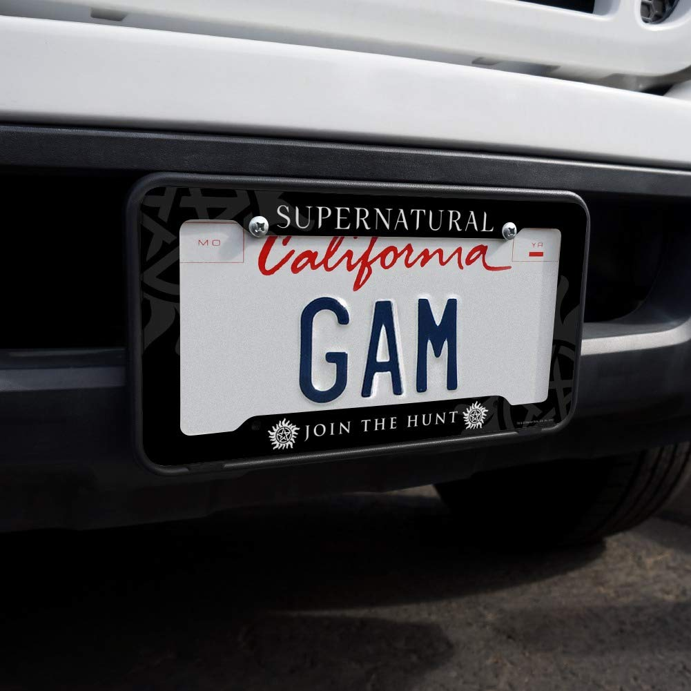 Graphics and More Supernatural Anti Possession Symbol License Plate Tag Frame
