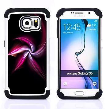 For Samsung Galaxy S6 G9200 - white black shuriken ninja ...