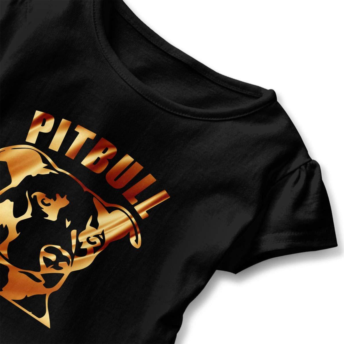 CZnuen Pit Bull Crumble Baby Girls Basic Short Puff Sleeve Round Neck Ruffle T-Shirt