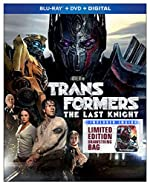 Transformers The Last Knight Blu-Ray + DVD w/ Limited Edition Bag