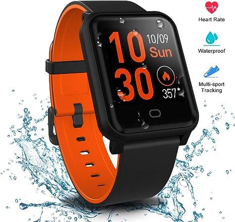 Reloj Inteligente Mujer,Smartwatch Hombre Impermeable IP68 Pulsera Actividad 1.3 Pulgada con Monitor de Ritmo cardíaco, Podómetro, Reloj Actividad ...