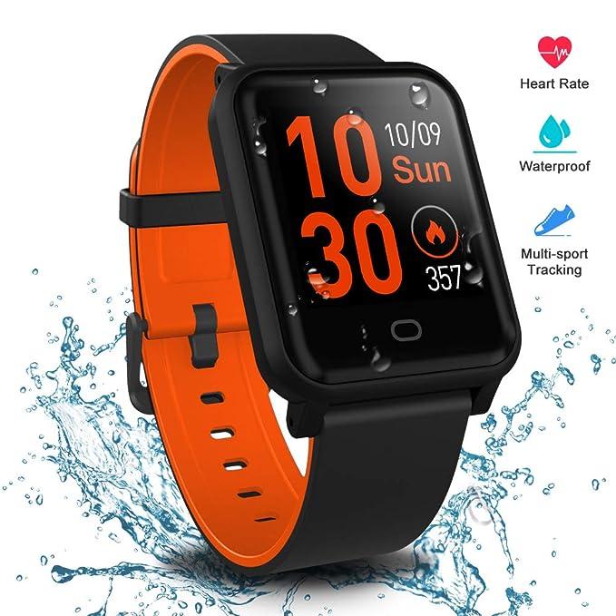 Fitpolo Reloj Inteligente Hombres,Smart Watch Mujeres Rastreador ...
