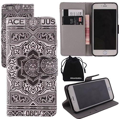 For Apple iPhone 6 Plus (5.5 inches), PU Leather Wallet Case Flip Cover by DRUnKQUEEn TM with Credit / Business / ID Card Cash Holder
