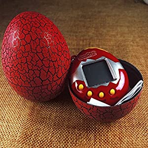 Cimoto Electronic Pets Toy Key Digital Pets Tumbler Dinosaur Egg Virtual Pets red