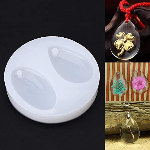 DIY Silicone Jewelry Mold Feather Shapes Making Pendant Resin Craft Tools Gift