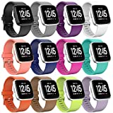 Sunnywoo For Fitbit Versa Bands, Replacement Fitbit Versa Bands Silicone Dust Resistant Fitbit Versa Accessories Quick Release Pin Sport Band Fitbit Versa Smartwatch