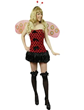 Yummy Bee Mariquita Disfraces Disfraz Mujer Alas Talla 38 40  Amazon ... e300a2f5a4f