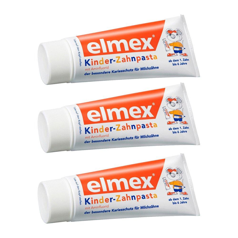 ELMEX Toothpaste Children Kids 0-6 Years Old - 3x50ml 3x1.69oz (3 Pack) 4332396281