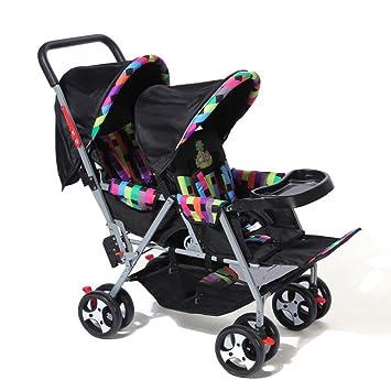 Baby Travel - Silla De Paseo Universal Pram Duo Twin con Capota para Lluvia con Capazo Disponible,B: Amazon.es: Jardín