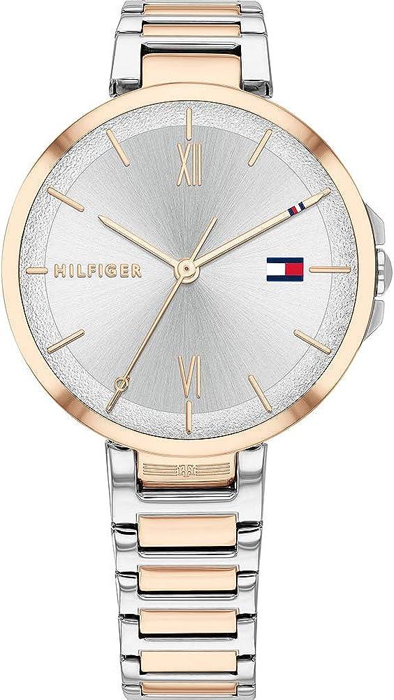 Tommy Hilfiger Reloj Analógico para Mujer de Cuarzo con Correa en Acero Inoxidable 1782209