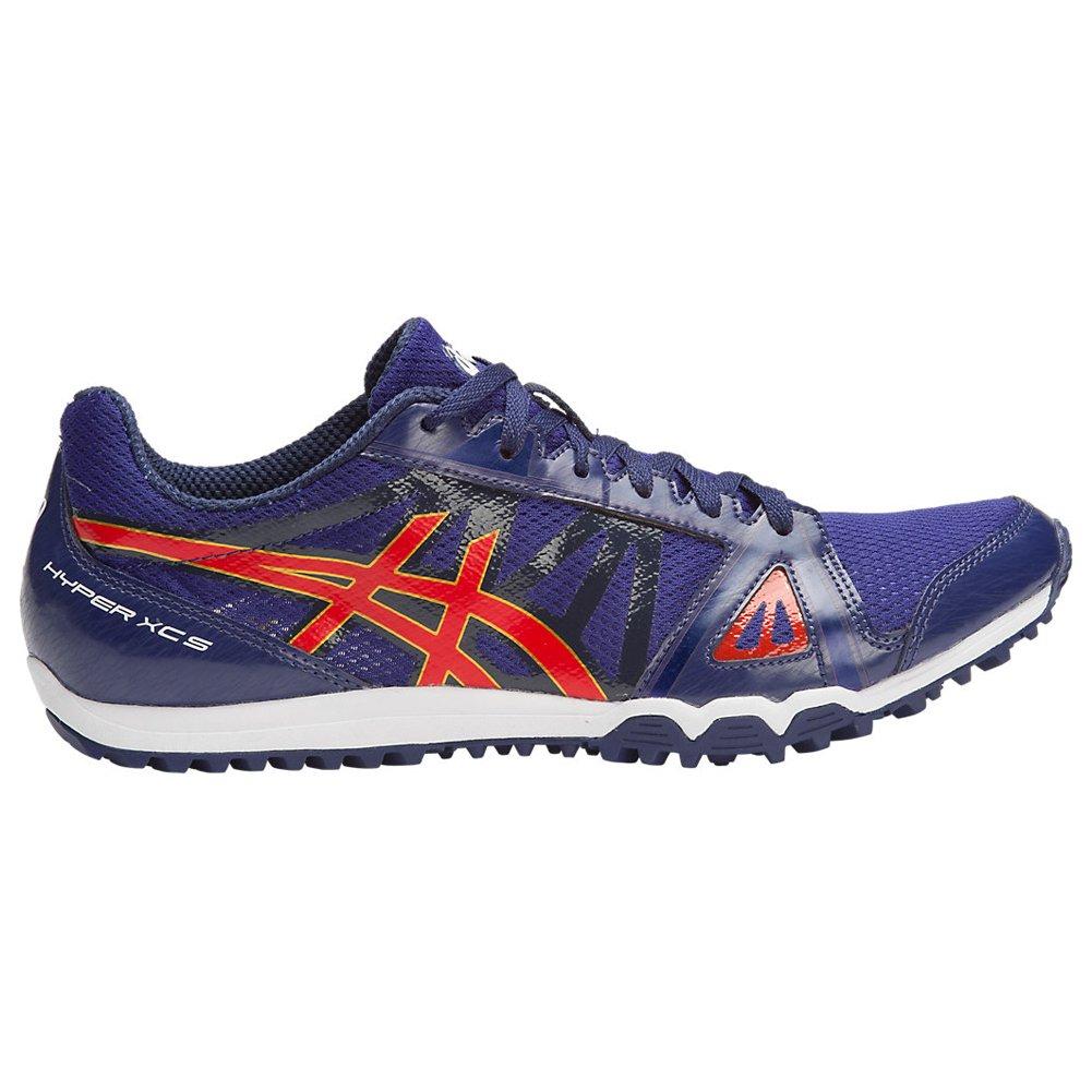 ASICS Men's Hyper XCS Cross-Country Running Shoe, Estate Blue/Vermilion/Rich Gold, 11 M US