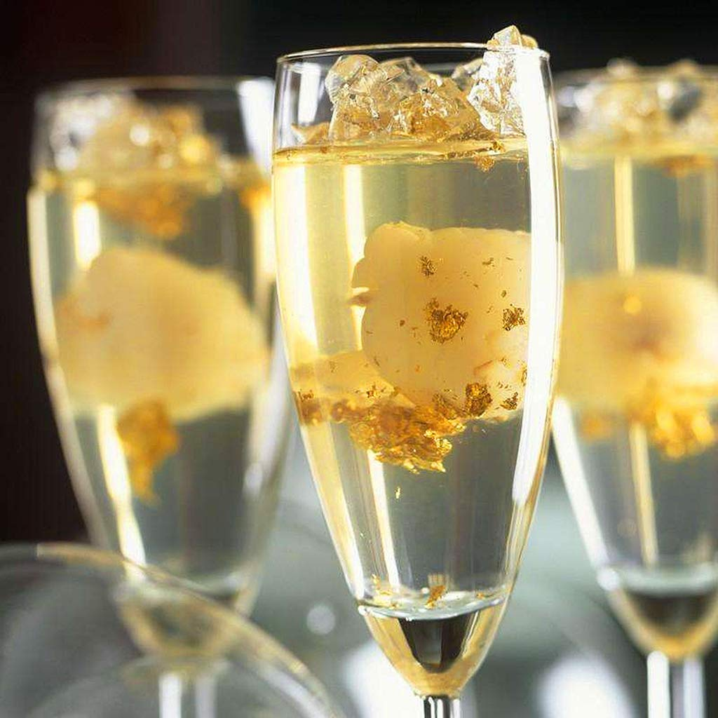 2G Edible Gold Leaf Foil Cooking Drink Food Dessert Cake Ice Cream Decoration