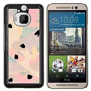 Stuss Case / Funda Carcasa protectora - Acuarela Pastel tono Colores Teal Pink - HTC One M9+ M9 Plus
