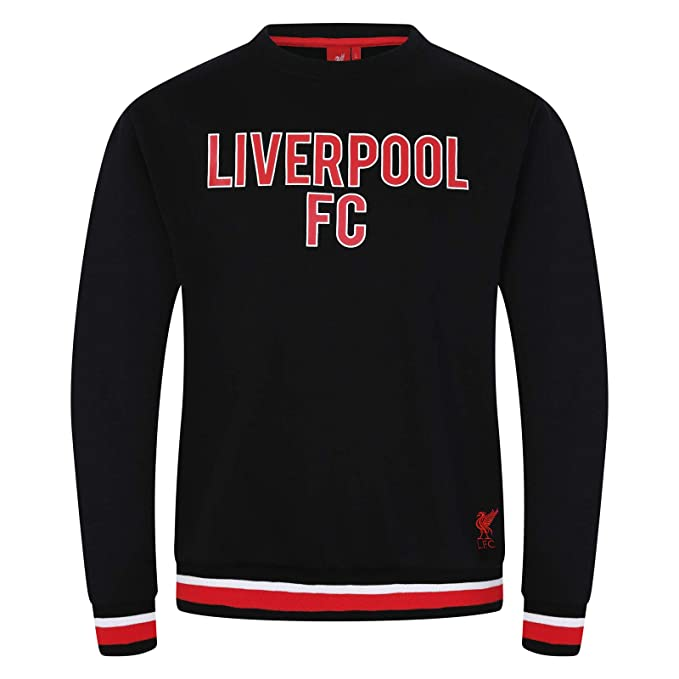 6b89e73d5 Liverpool Football Club Official Soccer Gift Mens Crest Sweatshirt Top at  Amazon Men s Clothing store