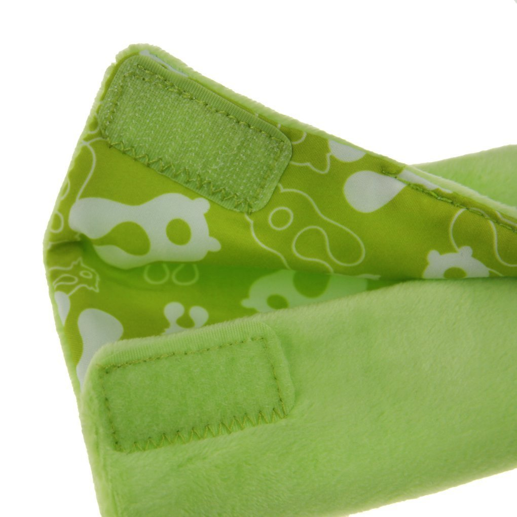 Inchant Baby Seat Belt Pads Car Seatbelt Cushion Cover for Kids Pushchair Soft Stroller Belt Strap Cover Pads Green Frog