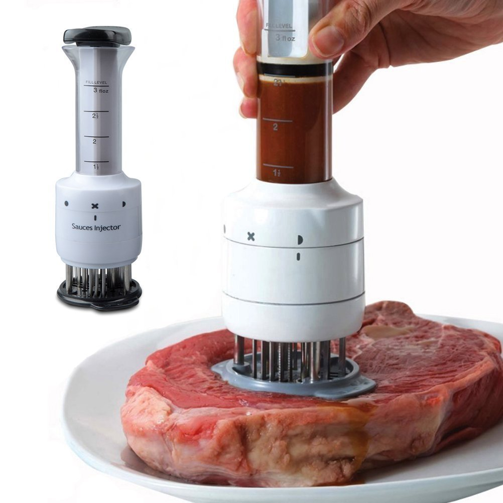 Woapech Meat Tenderizer Sauce Injector Marinator with 30 Stainless Steel Neddles for Softening Meat by Woapech