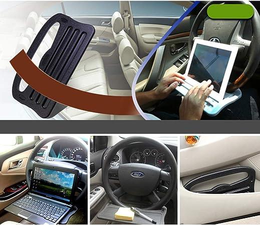 VOSAREA Auto-Tablett Lenkrad Schreibtisch Tisch Laptop Tablet iPad Notebook Auto Reisetisch Essen passt die meisten Fahrzeuge Lenkr/äder schwarz