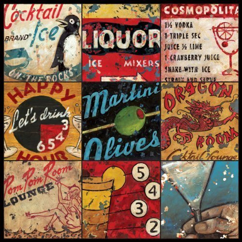 Cocktail Lounge & Libations Alcohol Bar Art by Aaron Christensen - Stretched Canvas Reproduction- Artist Direct, Authentic 18 x 18 x 1.5 - additional sizes listed. Made in my Portland, -
