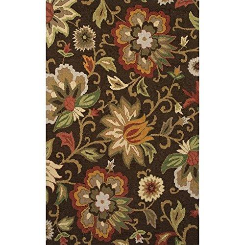 (Jaipur Rugs Hacienda 8' x 10' Hand Tufted Wool Rug in Brown and)