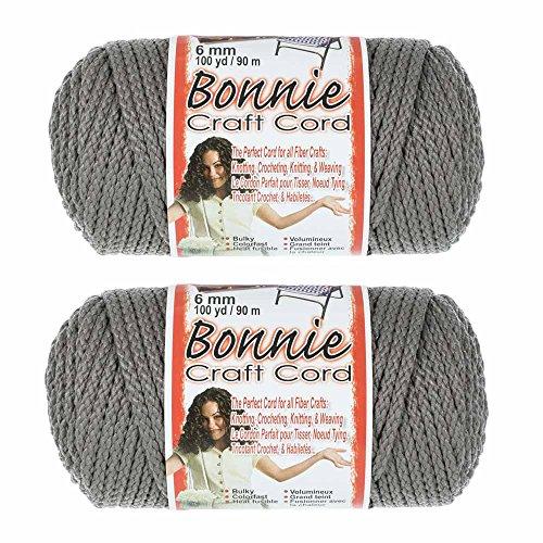 2 Pack Bonnie Macramé Cord - 6mm - 100 yd Lengths - Various Colors