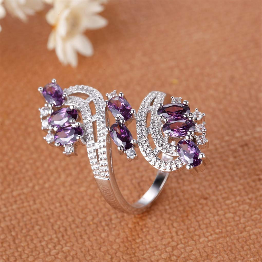 DARLING HER Ring Zircon Couple Ring Fashion Nice Plated 925 Jewelry Romantic Imperial Crown/&Cross Lover Ring