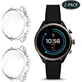 HATALKIN Compatible with Fossil Gen 4 Sport Women's Screen Protector Case Cover,TPU Screen Protective Case for Fossil Women's Gen 4 Sport Smartwatch(2 Pack-Clear)