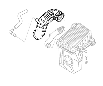 Mini Cooper Intake Snorkel Pipe Oem R50 R52 Cooper Non S Intake