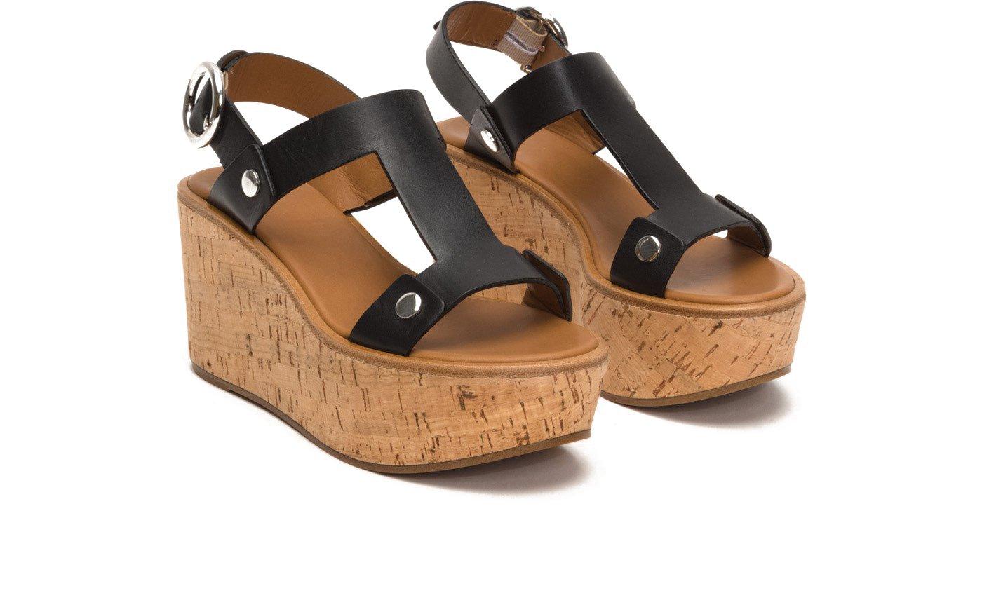 FRYE 79956 Women's Dahlia Rivet Wedge Sandal B076KTLNZV 8 B(M) US|Black