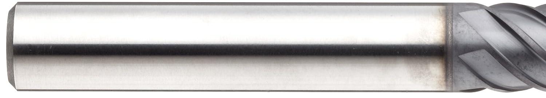 Finish Bright 45 Deg Helix 0.75 Cutting Diameter 0.030 Corner Radius 0.75 Shank Diameter Long Reach 4.125 Overall Length YG-1 EM668 Carbide Corner Radius End Mill 8 Flutes Uncoated