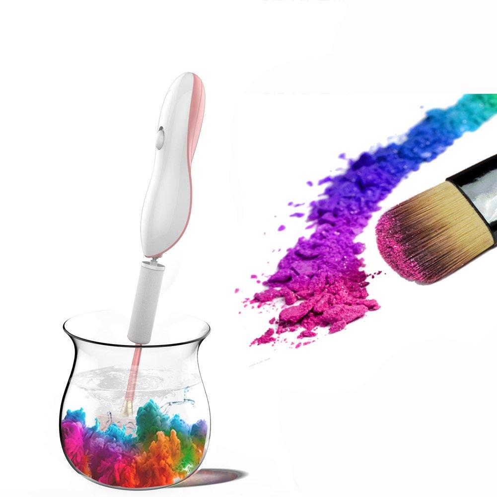 Limpiador de brochas de maquillaje - limpiador de brochas de maquillaje Kits y secador eléctrico automático máquina, lavado y secado maquillaje cepillos ...