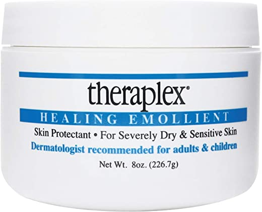 Theraplex Healing Emollient - Long Lasting Skin Barrier Protection for Severe Dry Skin, No Parabens or Preservatives, Noncomedogenic and Hypoallergenic, Dermatologist recommended (8 oz)