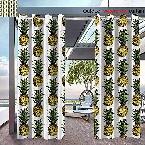 DESPKON Shading of Outdoor Curtains ineapple Raw GourmRemote Holis Getaway Palm Trees Suitable for Outdoor Room. W55 x L63 INCH ()