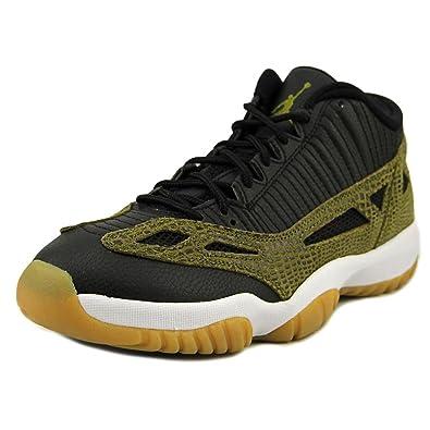 huge discount a7dde 3c206 Jordan Men Air Jordan 11 Retro Low (Black Militia Green Gum Yellow
