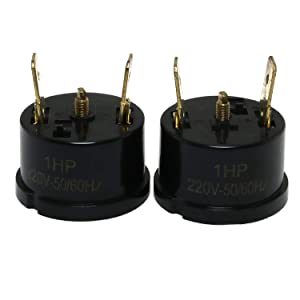 E-outstanding 2pcs Compressor Thermal Overload Protector for 1HP Refrigerator Freezer Air-condition