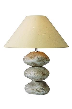 Meubletmoi Blancs Lampe À Poser Décoratif Luminaire Galets xedorCB