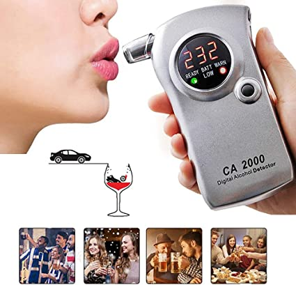 New Professional LCD Digital Breath-Alcohol Tester Breathalyser Police UK Seller